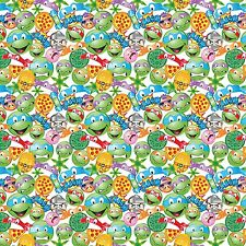 Nickeledeon Ninja Turtles Tmnt Icon Toss 100% cotton fabric by the yard