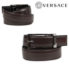 VERSACE ITALY DARK BROWN LEATHER BELT ITALY 110 42 BNWT $180