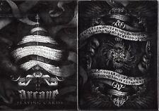 Arcane (Black) AND (White) Playing Cards - USPCC - Ellusionist - 2 Deck Set