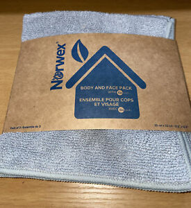 NEW Norwex Body and Face Wash Cloth Graphite Gray BacLock Microfiber 3 Pack