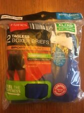 Hanes Mens TAGLESS Boxer Briefs ComfortSoft Sport Styling XL 2 Pack Blue Grey