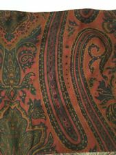 Ralph Lauren Graycliff Queen Bedskirt Dust Ruffle Burgundy Green Blue Paisley 14