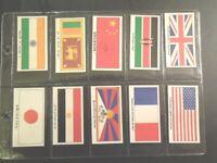 1988 Brooke Bond Tea THE LANGUAGE OF TEA  flag Trading set of 12 cards