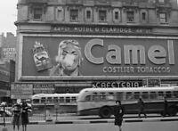 1943 Camel Cigarette PHOTO, TIMES SQUARE New York JOE CAMEL Sign Billboard
