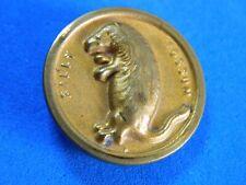 Antique Brass Picture Button Billy Possum President Taft Political Campaign