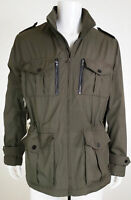 Michael Kors MK Men's Army Green Hooded Rain Jacket Windbreaker Coat Size Large
