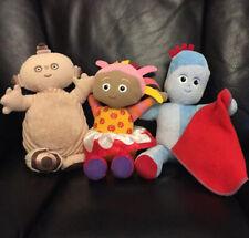 "Upsy Daisy, Makka Pakka & Iggle Piggle soft toys In the Night Garden 2 Talk 12"""