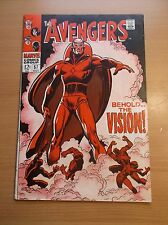 MARVEL: AVENGERS #57, 1ST APPEARANCE OF THE VISION, KEY BOOK, 1968, VG/FN (5.0)!