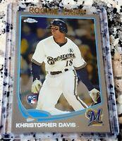 KHRIS DAVIS 2013 Topps CHROME Rookie Card RC Logo Oakland A's 48 HRs 123 RBIs
