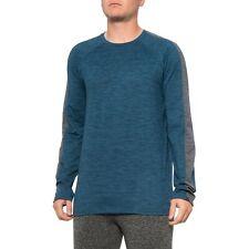 Gaiam Men's Power T-Shirt - Size Medium - Warm Long Sleeve Shirt -Teal