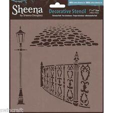 "Sheena Douglass 7"" x 7"" Stencil Mask VICTORIAN PARK Crafters Companion"