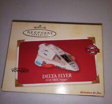 Hallmark Magic Keepsake Ornament Star Trek Voyager Delta Flyer, lights/voice NEW