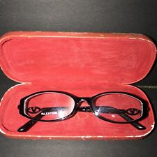 Valentino Designer Glasses Eyeglass Frames Plastic Red Rhinestones With Case GUC