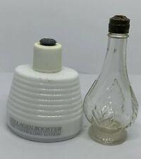 2 Avon Occur! Cologne Glass Decanter Collagen Booster Bottle Vintage