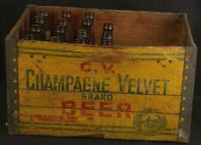 Champagne Velvet 15 Bottles And Wood Crate Generalite Wooden Bottle Box