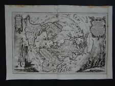 1737 SCHERER Atlas WORLD Map  MAGELLAN VOYAGES - America California Island