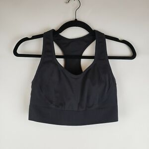 Members Mark Womens Black Sports Bra Size Large Padded High Support