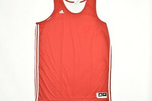 Adidas Men 3XLT 3XL Tall Basketball Reversible Jersey Tank Red White