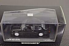 1/43 Minichamps BMW M3 E30 Black 1 of 4032 pcs New