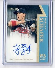 2011 TOPPS TIER ONE JORDAN SCHAFER ON THE RISE AUTO #824/999