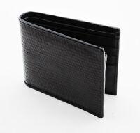 New Black Genuine  Sea Snake Leather Skin Men's Bi-fold Wallet.