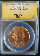 2015 KENNEDY ANACS MS69  FIRST SPOUSE Medal Jacqueline Jackie O Highest graded