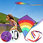 Large Rainbow Kite Easy To Assemble Launch Fly-Best Kite For Outdoor Beach Use