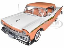 1957 FORD FAIRLANE SKYLINER 500 CONVERTIBLE CORAL SAND 1/18 DIECAST SUNSTAR 1336