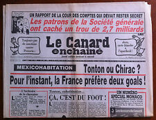Le Canard Enchaîné 18/6/1986; Les patrons de Société Générale cache 2,7 Milliard