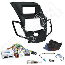 Ford Fiesta JA8 Doppel 2-DIN Blende+JVC Lenkradinterface Adapter+Warnblinker Set