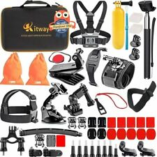 GoPro Camera 65 Accessories Kit for HERO 3 4 5 6 Outdoor Sports Set Bundle Case
