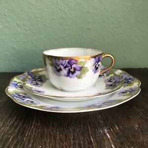 Rosenthal Jugendstil Kaffeegedeck Dekor Chrysantheme Viktoria Luise Rar (F)