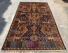 Authentic Hand Knotted Afghan Zakani Balouch Wool Area Rug 7 x 4 Ft (20557 HMN)
