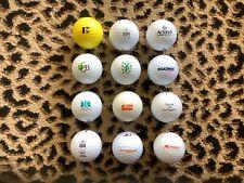 Logo Golf Balls Rare Vintage Mixed Dozen + Free Golfweek Magazine (Great Gift)