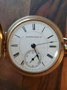 Vintage Waltham Gold Filled? GF Pocket Watch Open Face