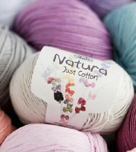 50g (155 mtr) Ball DMC Natura Just Cotton Crochet Yarn 60 Colours available
