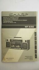 Passport for the tape recorder SHARP WF -939 Z. Vintage.