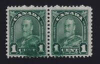 Canada Sc #163 (1930/1) 1c George V Arch Issue INK SMEAR Error Pair Mint H