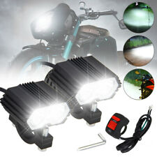 20W Motorcycle Handlebar T6 LED Driving Headlight Fog Lamp Spot Light&Switch Set