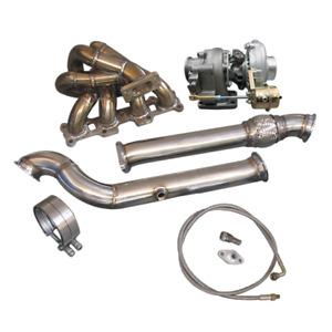 Top Mount T3 Turbo Manifold DownPipe Kit For Mazda Miata MX-5 1.8L NA-T