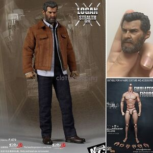 1/6 Scale Hot Toys X-Men Wolverine Logan Figure Body Suit Clothing Set with Head