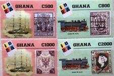 GHANA 1999 2986-89 2117-20 IBRA 99 Sailing Ships Schiffe Locomotives Züge MNH