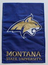 Montana State University Fighting Bobcats Garden Flag NCAA Football Baseball