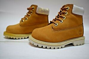 NEW TIMBERLAND CLASSIC BOOT WHEAT/WHITE TODDLERS SIZE 4.5 (12869)