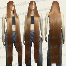 150cm Light Brown Heat Styleable Extra Long Cosplay Wigs Hair NEW