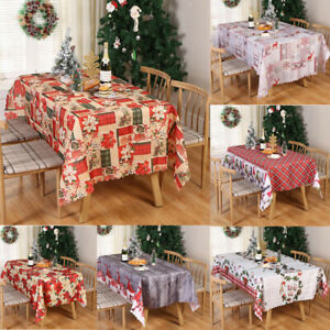 New Christmas Tablecloth Cover Xmas Party Holiday Decoration Kitchen 150*180cm