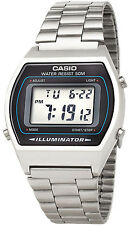 Casio B640WD-1A Mens Digital Watch Stainless Steel Band Flash Alert LED New