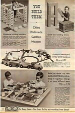 1965 AD Toy Flintstone Building Bricks Guidancetown Cash Register Circus Truck