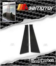 REAL CARBON FIBER DOOR PILLAR PANEL COVERS for BMW E36 3dr HATCHBACK 3-SERIES