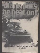 1980 POLARIS SNOWMOBILE TX-L INDY  PARTS MANUAL P/N 9910653 (862)